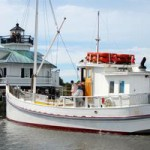 The Winnie Estelle at the Chesapeake Bay Maritime Museum in St. Michaels, Maryland.