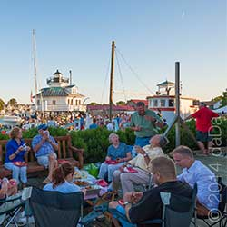 Big Band Night is held annually on July 4th weekend at the Chesapeake Bay Maritime Museum in St. Michaels, Maryland. Photo by Graham Scott-Taylor.
