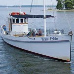 The 1920 buyboat Winnie Estelle is part of the floating fleet of the Chesapeake Bay Maritime Museum in St. Michaels, Maryland.