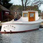 Martha is part of the floating fleet at the Chesapeake Bay Maritime Museum in St. Michaels, Maryland.