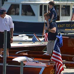 The Antique and Classic Boat Festival is held annually on Father's Day weekend at the Chesapeake Bay Maritime Museum in St. Michaels, Maryland.