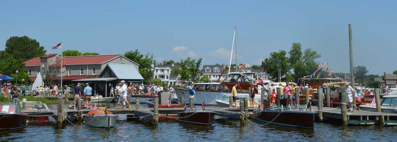 The annual Antique & Classic Boat Festival is Father's Day weekend at the Chesapeake Bay Maritime Museum in St. Michaels, Md.