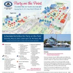 Map and scheduled activities for May 23 Party at the Point