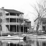Higgins, Dodson, and Eagle Houses : historic 19th century homes in St. Michaels, Maryland which are now used as the administration buildings of the Chesapeake Bay Maritime Museum.