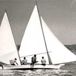 Marianne racing on the Miles River, c. 1972 by Charles C. Harris. Collection of the Chesapeake Bay Maritime Museum, St. Michaels, MD. Gift of the photographer.