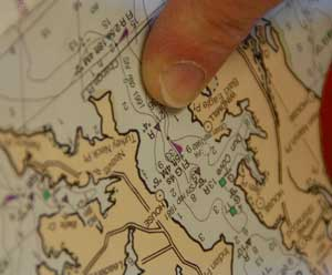 Chart navigation courses are offered at the Chesapeake Bay Maritime Museum in St. Michaels, Maryland.