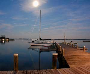 Special Winter Docking Rates at the Chesapeake Bay Maritime Museum in St. Michaels, Maryland.