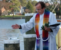 Blessing of the Fleet held annually in April at the Chesapeake Bay Maritime Museum in St. Michaels, Maryland.