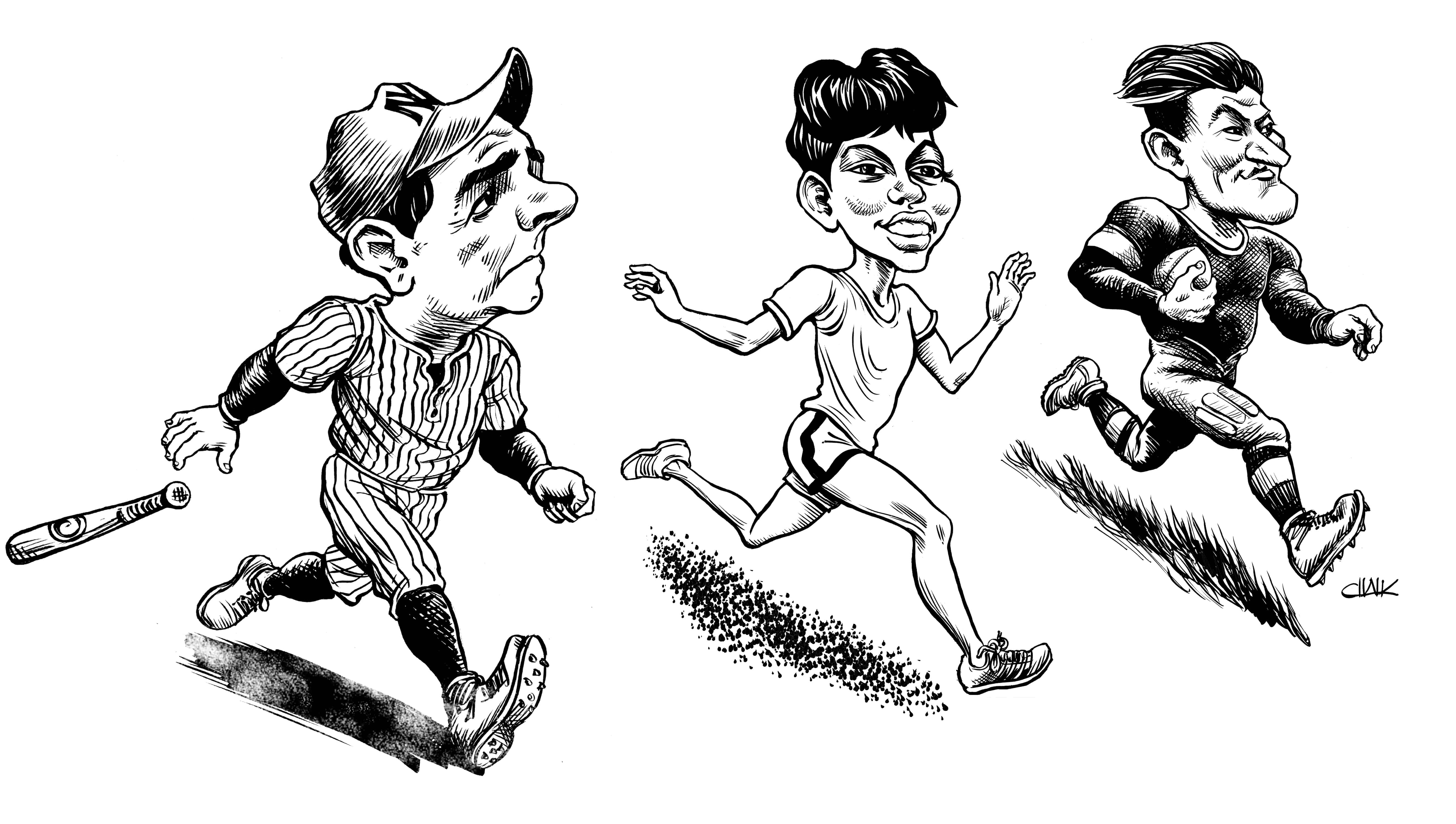 The Maryland Humanities Council's Chautauqua Summer Series, Sporting Lives, is returning to the Chesapeake Bay Maritime Museum in St. Michaels, MD on July 13, 14, & 15. This year's theme features living history performances of athletes Babe Ruth, Wilma Rudolph, and Jim Thorpe, as illustrated by Tom Chalkley here. The CBMM performances are generously underwritten by Karen and Langley Shook and the St. Michaels Running Festival, and are scheduled to take place from 7-9 p.m. on the waterfront lawn of CBMM's Fogg's Landing. Guests are encouraged to bring chairs and blankets for seating. In the event of rain, the performances will be moved inside. No advance registration is required.