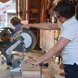 Women's Woodworking at the Chesapeake Bay Maritime Museum in St. Michaels, Maryland.