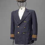 Chesapeake Bay ferryboat captain Daniel G. Higgin's uniform hat and jacket will be presented to the public for the first time in the exhibition A Broad Reach: 50 Years of Collecting