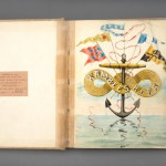 """Inspired by experiences on the Chesapeake Bay, the """"Log of the Rita,"""" was created by Baltimore yachtsman Hunt R.M. Thom and his artistic friends in 1897 and 1898."""