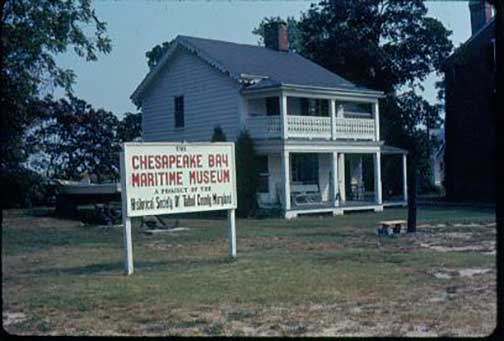The Chesapeake Bay Maritime Museum during the first few years in the late 1960s.