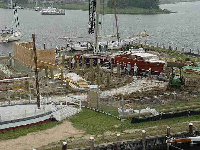 The construction of the new At Play on the Bay exhibition in 2004.