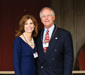 Lise and John Valliant at the Boating Party Gala in September, 2014