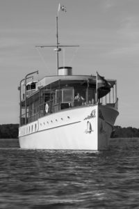 """Freedom"", a 104 ft fantail motor yacht designed by John Trumpy and built in 1926 by Mathis Yacht Building Company in Camden, NJ. Photo by Morris Rosenfeld, courtesy of the Rosenfeld Collection, Mystic Seaport Museum"