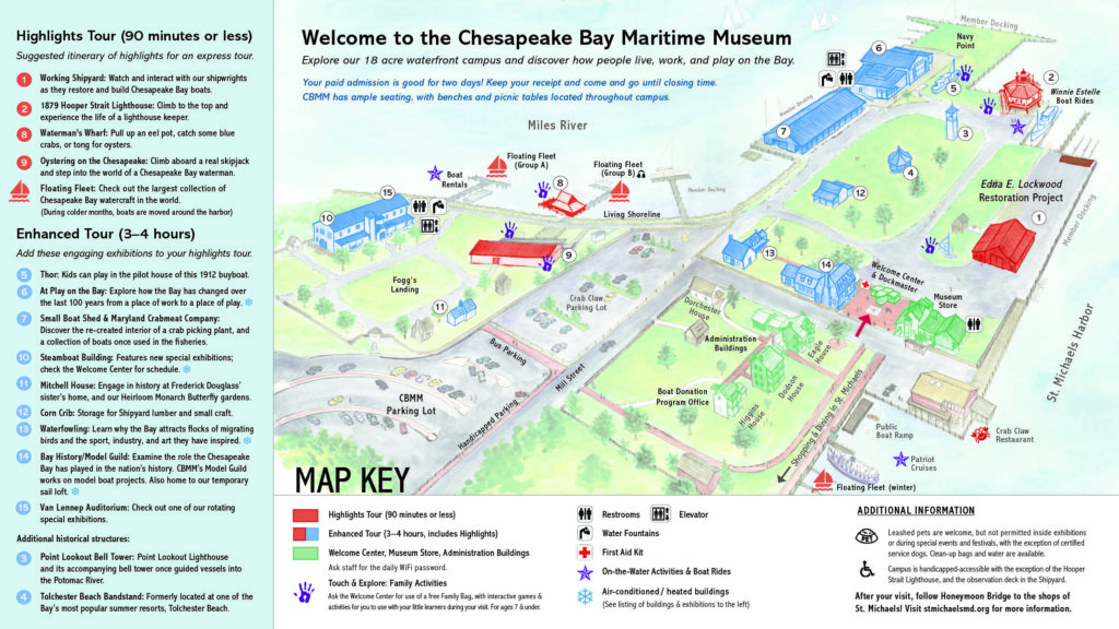 Campus map chesapeake bay maritime museum for The craft of research audiobook