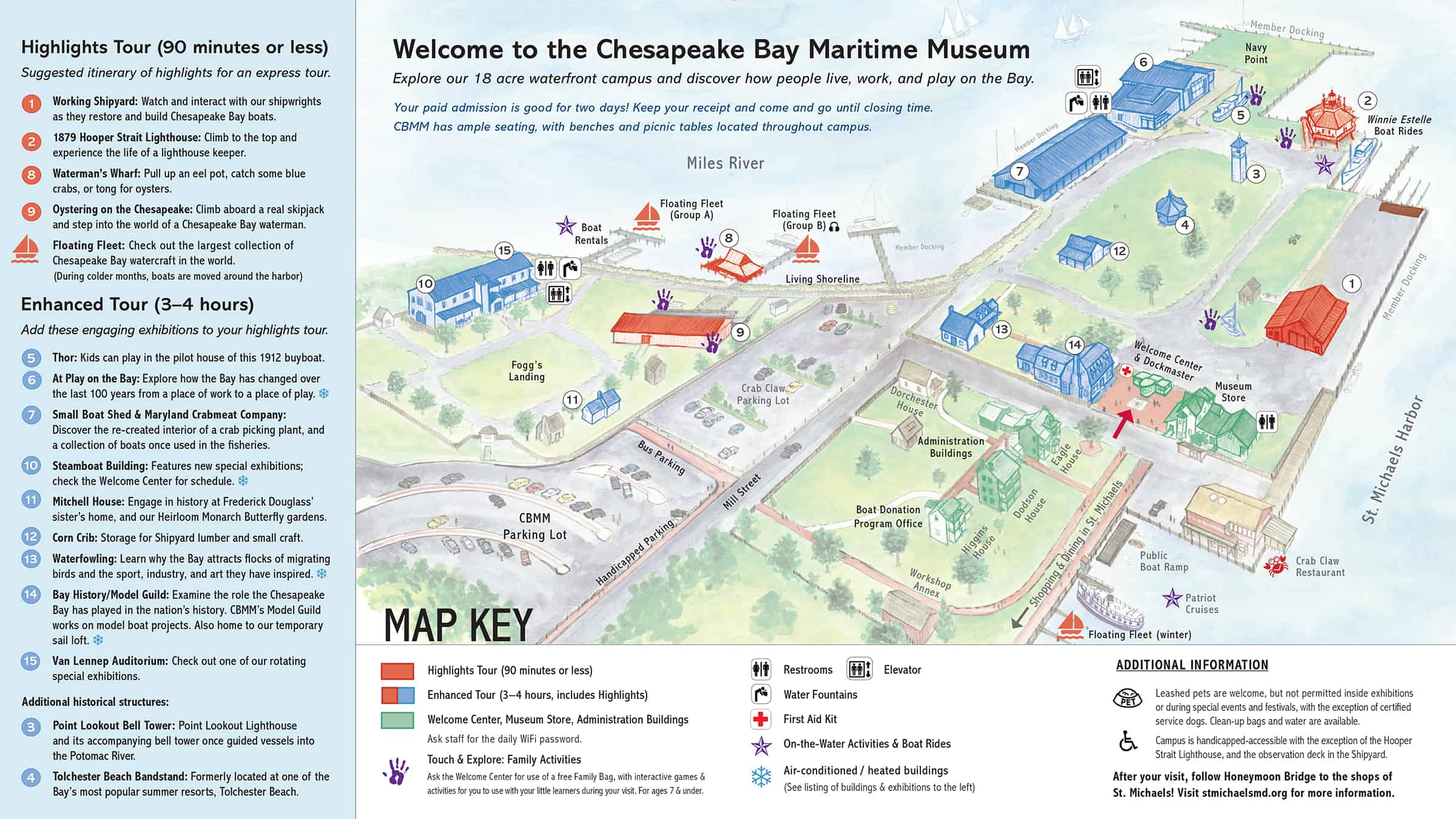 Mission Bay Campus Map.Campus Map Chesapeake Bay Maritime Museum