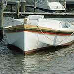 The Potomac River Dory Boat is part of the floating fleet at the Chesapeake Bay Maritime Museum in St. Michaels, Maryland.