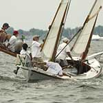 The Edmee S. Log Canoe is part of the floating fleet at the Chesapeake Bay Maritime Museum in St. Michaels, Maryland.